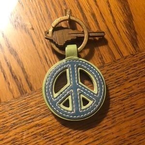 Coach Peace Sign Key ring